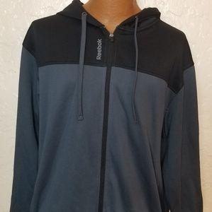 Reebok Mens Track Full Zip Hoodie Jacket Size 2XL